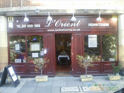 l 39 orient ealing restaurant indian in london greater london the gourmet society diners card. Black Bedroom Furniture Sets. Home Design Ideas
